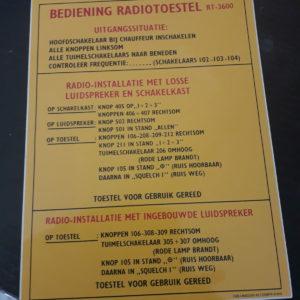 RT3600 Nekaf radioset sticker